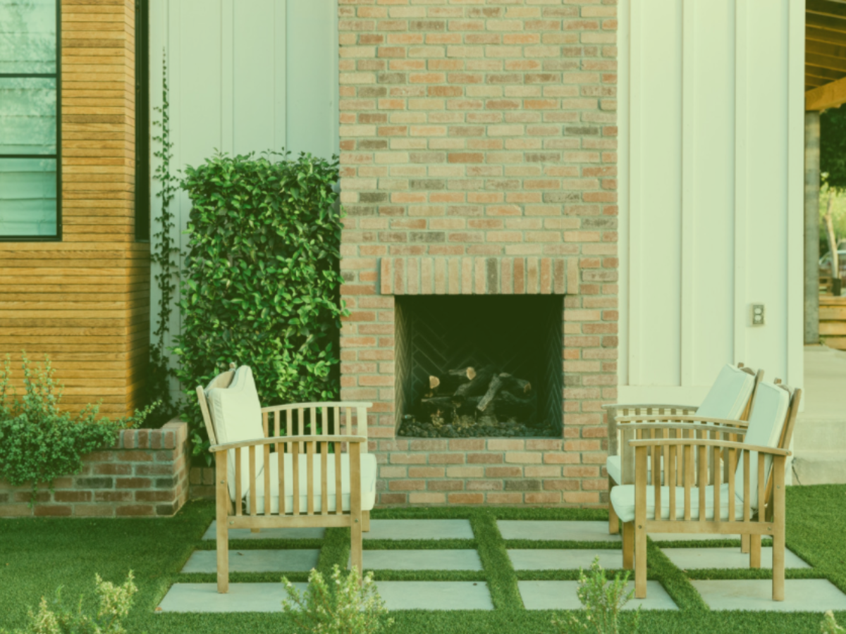 Outdoor patio with chairs